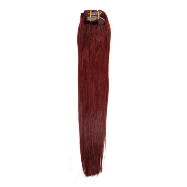 Cherry Red Clip In Extensions 530